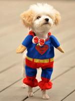 Wholesale HOT Superman Suit Pet Puppy CHIC Cotton Clothes Costumes
