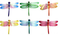 Wholesale New Simulation Dragonfly Fridge Magnets stylish appearance lifelike Refrigerator magnets Home Decor