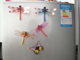 Wholesale Simulation Dragonfly Fridge Magnets stylish appearance lifelike Refrigerator magnets Home Decor