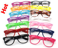 Wholesale 20PCS beach Color sunglasses Clear Lens Glasses women clear sunglasses men Transparent sunglasses