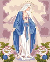 One Panel paintings mary - Paint by Number kit x40cm x16 Virgin Mary Painting drop shipping LG7084
