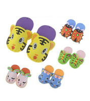 Wholesale NEW Slippers Kids Favorite Cute Foam Art D Puzzles EVA Craft DIY Kits Child Educational Toys