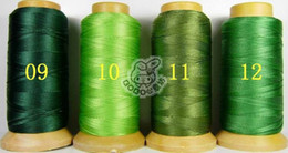NO6 one roll 0.5mm folded yarns DIY jewelry findings Nylon Beading Thread Cord String 24 colors