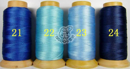 NO9 one roll 0.7mm folded yarns DIY jewelry findings Nylon Beading Thread Cord String 24 colors