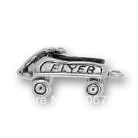 Charms   free shipping 100pcs a lot 2013 fashional anti-silver plated Flyer Wagon Charm jewelry