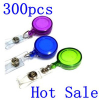 Wholesale 300pcs key chain Recoil Key Ring Retractable Pull Chain Reel Belt Tag Badge Card Clip Holder