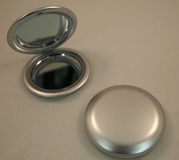 Wholesale of Blank Plastic Compact Mirror Silver