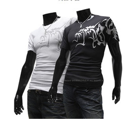 Wholesale 2013 men s t shirts Short sleeve round neck shirts ambition Wolf tattoos