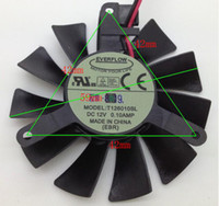 Wholesale PC graphics card cooling fan EVERFLOW T126010SL DC12V A wires VGA FAN