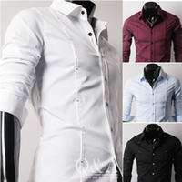 Spring free shipping men' s t- shirts lapel long- sleeved ...