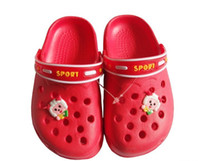 Wholesale Summer children s slippers hole sandals men and women sandals garden shoes baby hollow shoes