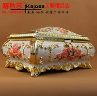 Wholesale Large tin enamel jewelry box storage tin metal jewelry
