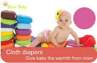 Wholesale Baby s Favors One Size Adjustable Baby Washable Cloth Diapers Cloth Nappy Inserts