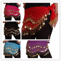 Wholesale Belly Dancing Wear Costumes Skirt Scarf Rows Coins Colors U Pick Wrap Belt