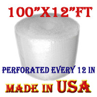 Wholesale 200 Sheets quot x200 ft SMALL quot PERFORATED EVERY quot CORELESS BUBBLE WRAP ROLL UPS