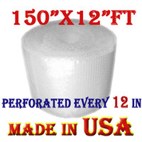 Wholesale 300 sheets Bubble wrap roll quot x150 quot ft PERFORATED EVERY quot UPS