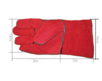 Wholesale long sleeve Reverse cow leather double protection gloves prevent cut glove Heat Isulation glove