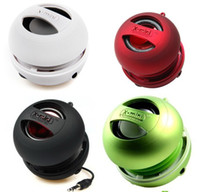 Wholesale Brand New in Cylinder Box XMI X MINI XMINI Portable Hamburger Capsule Mini Speaker Speakers II