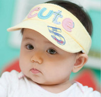 Wholesale 816 Korea edition baby hat little letters express hat Numbers empty hat