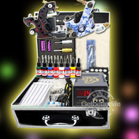 2 Guns Beginner Kit  Complete Tattoo Kit 2 Machine Guns Inks Needles Power Needles Equipment Supplies(US warehouse)K058