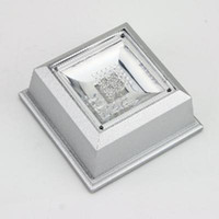 display stand Silver + Crystal 76mm x 36mm (W x H) 2013 new Small size square Crystal Display Base Stand 4 LED Light 20pcs lot free shipping