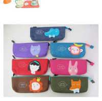 Felt   New Hot cildren's Stationery multifunctional Animal pen bag Pencil Case Fashion kids bag, MAR334