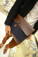 Wholesale Retro style leisure and business men s canvas envelope packet data packet Clutch package