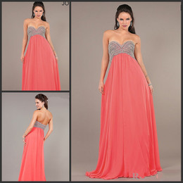 Wholesale 2014 Evening Dresses for Pregnant Women Sweetheart Empire Maternity Formal Gowns Beadwork A Line Watermelon Chiffon Prom Dresses