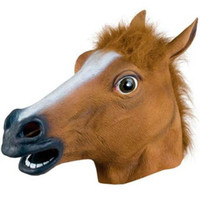 Wholesale Creepy Horse Mask Head Halloween Costume Theater Prop Novelty Latex Rubber Worldwide