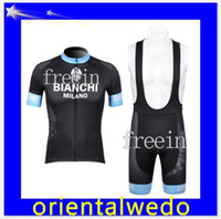 Wholesale Top Quality Bianchi Cycling jersey and BIb short bike clothing