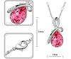 2013 NEW Fashion Unique Design Angel Tears Crystal Alloy drop Bow Necklace Fashion woman Jewellery dropship