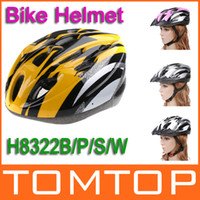 Wholesale Cycling Bicycle Bike Carbon Adult sport safety Helmet with Visor EPS White Yellow Pink H8322