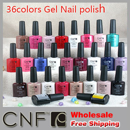 Wholesale TNT free Sweetcolor CNF soak off UV amp LED gel polish nail varnish ml Color Top Base