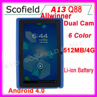 Wholesale Q8 Q88 quot Allwinner A13 Andorid Tablet Epad Double Camera Android Tablet PC GB F1 Tablet Color