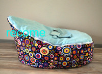 Wholesale fashion dots baby sleeping beanbag chair original doomoo seat new born baby bean bags