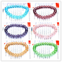 Wholesale Mix Color Crystal Beads Bracelets Rhinestone Charm Bracelets Spark Jewelry For Girl