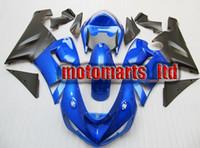 Wholesale ABS fairing for Kawasaki Ninja ZX R ZX R ZX6R matt black blue FULL KIT