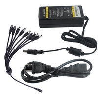 Wholesale 12V A W DC Power Supply Adapter Charger with way for CCTV Security Camera DVR