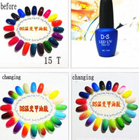 Wholesale 2013 New D S ML Temperature Change Soak off Color UV LED Gel Nail Art LED Color Gel Polish
