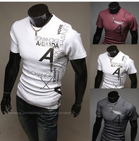 Wholesale 2626 HOT New men s t Shirts Mens Casual Fashion letters printing short Sleeve T shirts