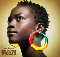Wholesale 20 OFF Exaggerated HIPHOP Brazil reggae style earring Charm earrings pairS
