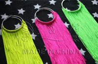 Wholesale 6 off12015new hot sale cheap Exaggerated Nightclub earrings Fluorescence tassel earrings Hip hop earring pairs