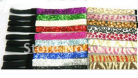 Wholesale ZEBRA color Glitter headbands for girl softball headbands sparkle band ghb