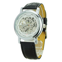 Wholesale Winner Chic Manual Simple Wind Up Mechanical Watch with Round Dial For Men Watches