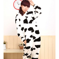 Wholesale New Fashion S M L XL Adult Cow Sleepwear Cosplay Costumes Animal Kigurumi Pyjamas