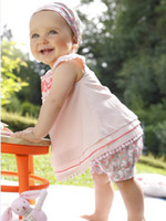 baby embroidery pattern - 3 piece set Girls embroidery pattern T shirt shorts headdress baby suit