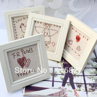 Wholesale Min order mixed items Photo frame wooden pic frame house decoration embroidery wedding birthday gift