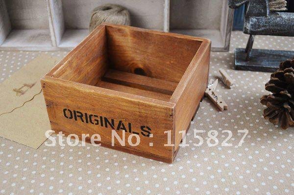 Square Wooden Storage Boxes Items Wooden Storage Box