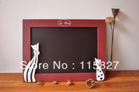 Wholesale Min order mixed items NEW Mini blackboard message information board with cat hanger board