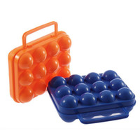 Wholesale 20 Portable Picnic Camping Plastic Egg Box Carrier Holder Storage Container